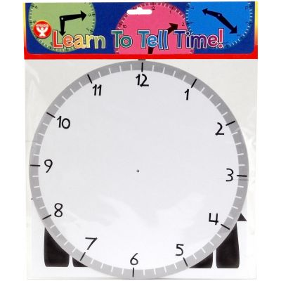 Learn To Tell Time Clock Kit 24/Pkg Clock Kit - H12124