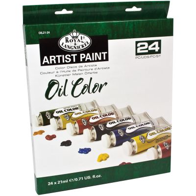 Oil Paints 21Ml 24/Pkg Assorted Colors - OIL21-24