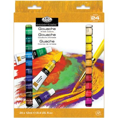 Gouache Acrylic Paints 12Ml 24/Pkg Assorted Colors - GOU24