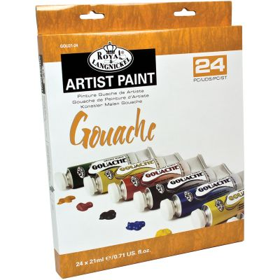 Gouache Acrylic Paints 21Ml 24/Pkg Assorted Colors - GOU21-24