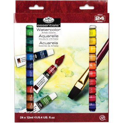 Essentials(Tm) Watercolor Paints 12Ml 24/Pkg Assorted Colors - WAT24