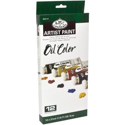 Oil Paints 21Ml 12/Pkg Assorted Colors - OIL21-12