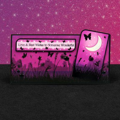 Hunkydory Twilight Kingdom A4 Topper Set Moonlight Wishes - TWILT904