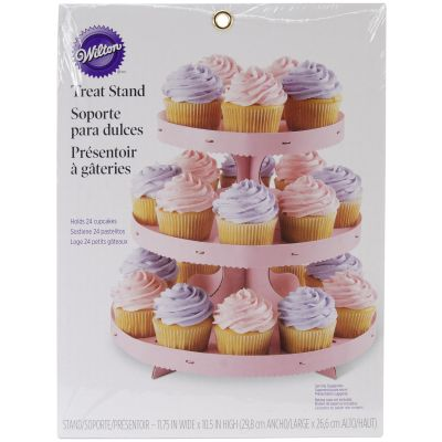Corrugated Cupcake Stand 3 Tiers Pink - W0884