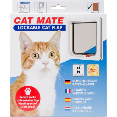 Cat Mate Lockable Cat Flap White - CM304W