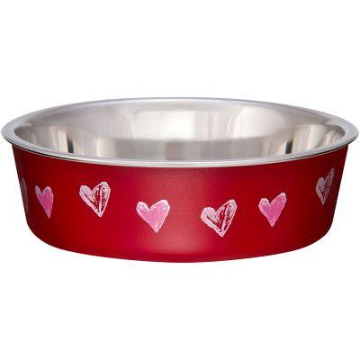 Bella Bowl Designer Xsmall Hearts  Valentine Red - LP7761