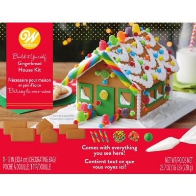 Unassembled Gingerbread House Kit-Petite