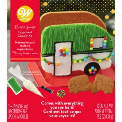 Unassembled Gingerbread Camper Kit-