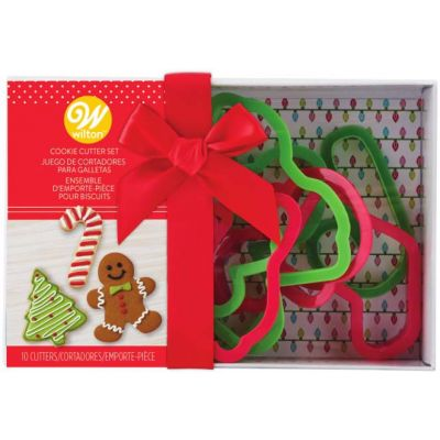 Plastic Cookie Cutters Gift Boxed 10/Pkg-Christmas