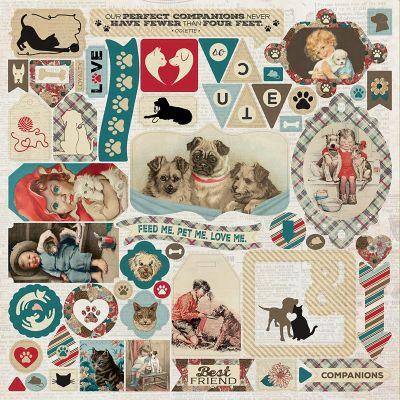 Companions Cardstock Stickers 12