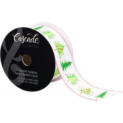 Cascade Satin Ribbon W/Wired Edge 2.5
