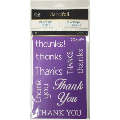Deco Foil Stencils Thanks - DFSX-5503
