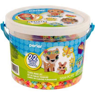 Perler Fused Bead Bucket Kit-Fairies & Friends