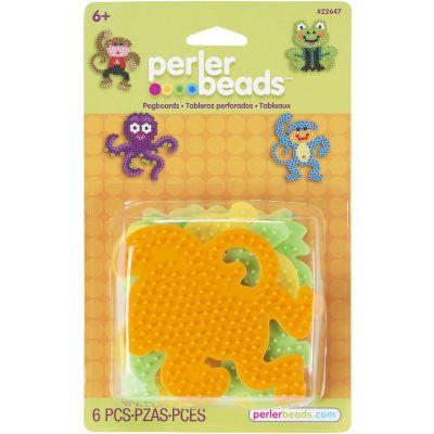 Perler Pegboards 4/Pkg Dog, Monkey, Frog & Octopus - 22647