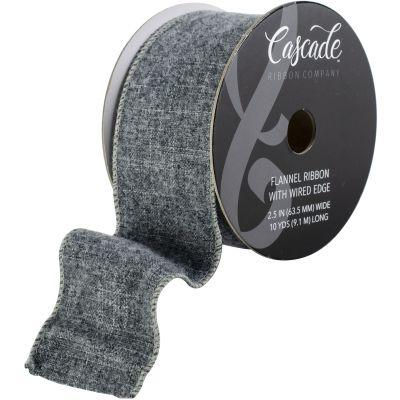 Cascade Flannel Ribbon W/Wired Edge 2.5