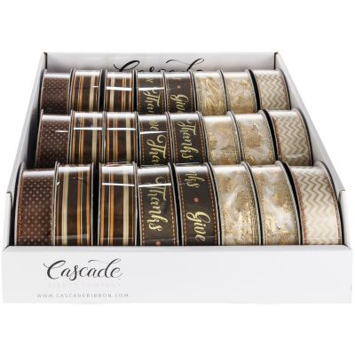 Cascade Gilded Fall Ribbon Assortment PDQ