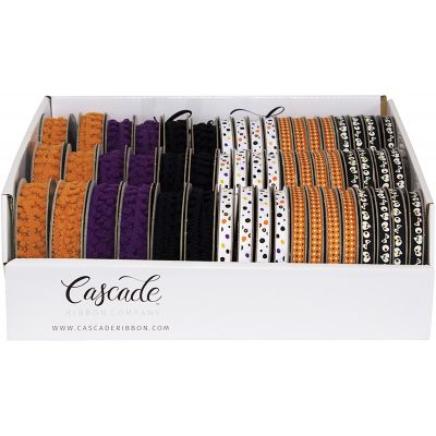 Cascade Halloween Ribbon Assortment PDQ 66/Pkg