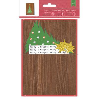 American Crafts Cards W/Envelopes 6/Pkg Tree - 98673