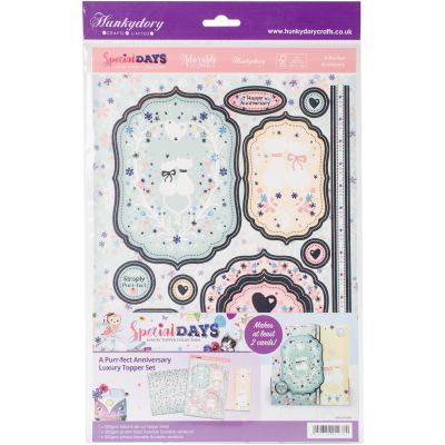 Hunkydory Special Days A4 Topper Set A Purr Fect Anniversary - SPEC903
