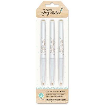 Sweet Sugarbelle Food Coloring Pens 3/Pkg Tan - SB374085