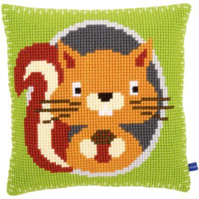 Squirrel Cushion Cross Stitch Kit 16