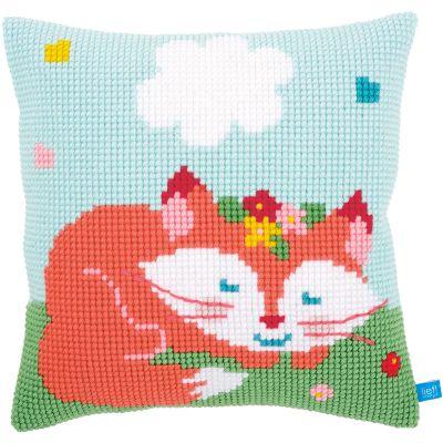 Sleeping Fox Cushion Cross Stitch Kit 16
