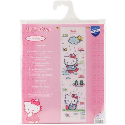 Hello Kitty Rainy Days Growth Chart On Aida Counted Cross St 7.2