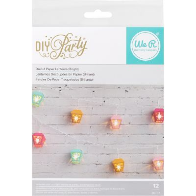 We R Diy Party Light Covers 12/Pkg 3D Garden Lanterns; Brights - 660965