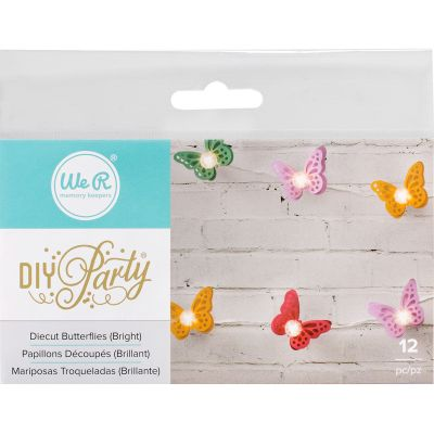 We R Diy Party Light Covers 12/Pkg Butterfly Layers; Brights - 662859
