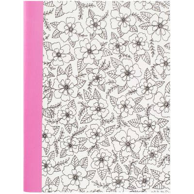 Hall Pass Adult Coloring Composition Notebook 7.5