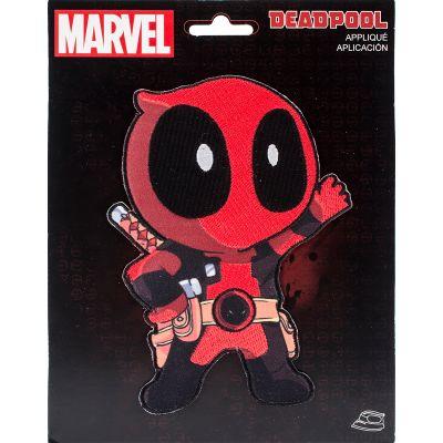 Wrights Marvel Comics Iron On Applique Deadpool Animate - 193 9943