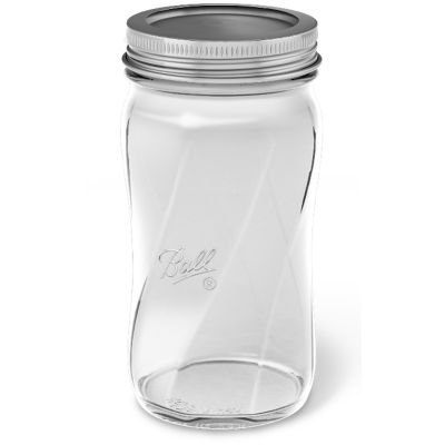 Ball(R) Regular Mouth Spiral Canning Jars 4/Pkg Pint Elite Series Clear, 16Oz - 61183