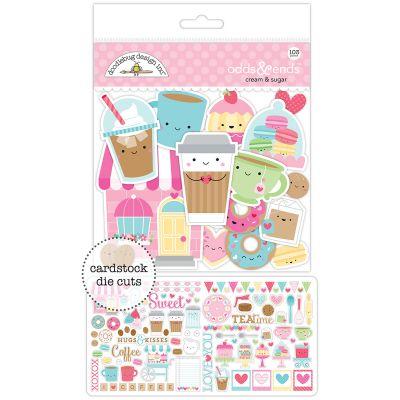 Doodlebug Odds & Ends Die Cuts 103/Pkg Cream & Sugar - CAS5484