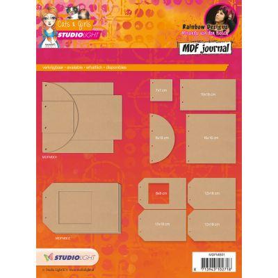 Studio Light Mixed Media Rainbow Designs Mdf Journal Cats & Girls Various Shapes - MDFMB-01