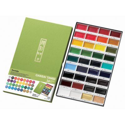 Kuretake Gansai Tambi 36 Color Set Assorted Colors - MC2036V