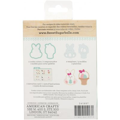 Sweet Sugarbelle Cookie Cutter Kit 5Pcs Bunny & Basket - SB341997