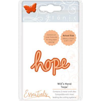 Tonic Studios Essentials Miniature Moments Sentiment Die Hope - 1889E
