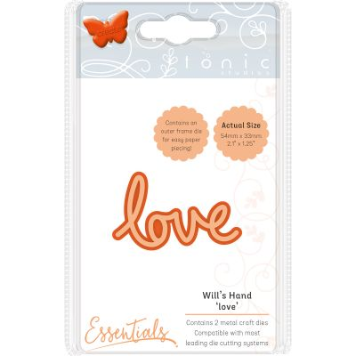 Tonic Studios Essentials Miniature Moments Sentiment Die Love - 1891E