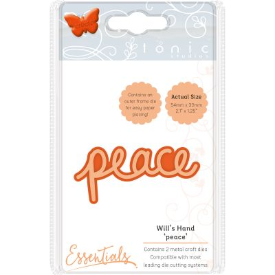 Tonic Studios Essentials Miniature Moments Sentiment Die Peace - 1892E