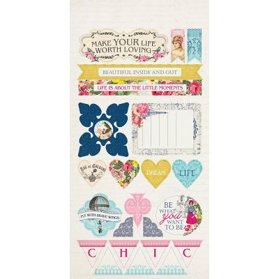 Dame Double Sided Cardstock Die Cut Sheet 6