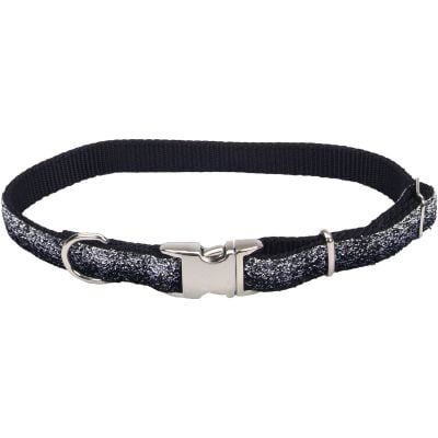 Pet Attire Sparkles Adjustable Dog Collar W/Metal Buckle 5/8