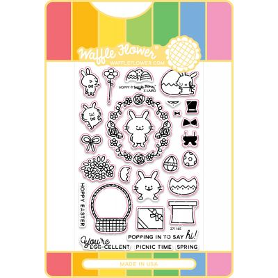 Waffle Flower Stamp & Die Set Hoppy - WFC165