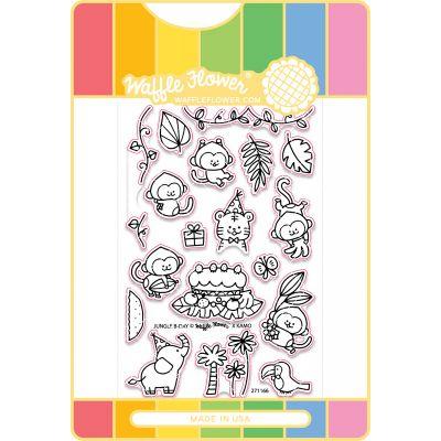 Waffle Flower Stamp & Die Set Jungle Birthday - WFC166