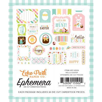 Hello Easter Cardstock Die Cuts 33/Pkg Icons - HEE45024