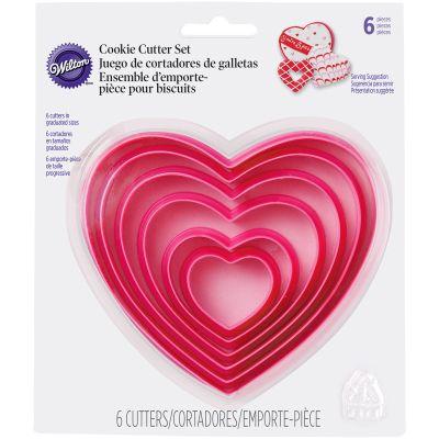 Nesting Plastic Cookie Cutter Set 6/Pkg Hearts - W2304115