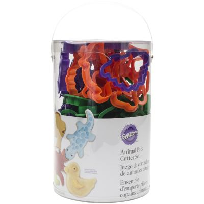 Plastic Cookie Cutters 50/Pkg Animal Pals - W1055