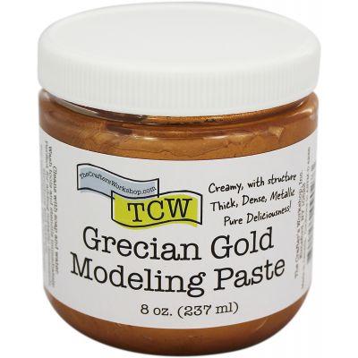 Crafter'S Workshop Modeling Paste 8Oz Grecian Gold - TCWMP-9027