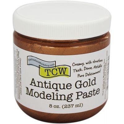 Crafter'S Workshop Modeling Paste 8Oz Antique Gold - TCWMP-9028