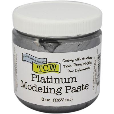 Crafter'S Workshop Modeling Paste 8Oz Platinum - TCWMP-9031