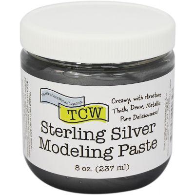 Crafter'S Workshop Modeling Paste 8Oz Sterling Silver - TCWMP-9032